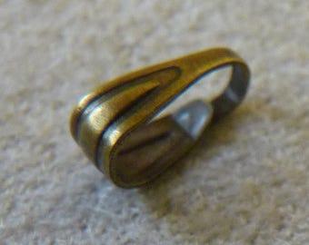 Pendant Bails, 7mm Bronze Bail Connectors, Pinch Sliders Snap on Bails, Charm Clips, Pendant Connectors, Necklace Connectors