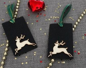 5 x Christmas Gift Tag/Gift wrapping/Christmas Tags/ Handmade Christmas gift Tag
