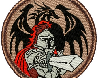 Dragon Slayer Patch (703) 2 Inch Diameter Woven Patch