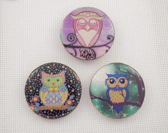 Purple Owl Needleminder / Colourful Owl Needleminder / Wise Owl Needleminder