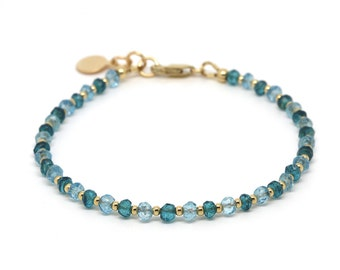 Blue Topaz & London Blue Topaz bracelet