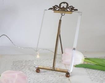 Vintage French Beveled Glass Photo Frame - Ormolu Photo Frame