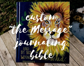 """Custom """"The Message"""" Colouring and Journaling Bible"""