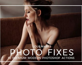 30 Professional Photo Fix Photoshop Actions Professional Photo Editing for Portraits, Newborns, Weddings By LouMarksPhoto