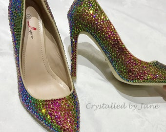 Preciosa Strassed Shoes Heels Stilettos Prom Bridal - Custom Bespoke Crystal service - send us your shoes