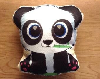Panda Pillow, Double sided, Panda plushie pillow, Panda Plush pillow, Cute Panda Stuffed pillow, Animal pillow, Panda gift, Panda lover gift