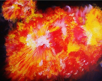 Exploding gas cloud, Fine Art Print, Abstract Print, Space Art, Digital Print