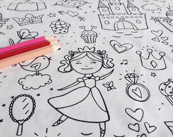 Fabric coloring Oeko Tex - FAIRY/Princess
