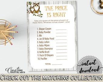 Price Is Right Baby Shower Price Is Right Owl Baby Shower Price Is Right Baby Shower Owl Price Is Right Gray Brown - 9PUAC