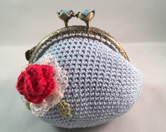 REDUCED TO CLEAR Crocheted *Coin Purse