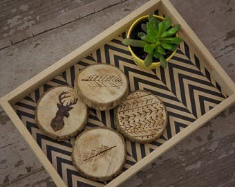 Branch slice coasters