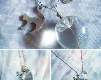 Make a Wish Kitty Necklace