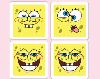 Spongebob magnets, spongebob square pants, fridge magnets, funny face magnets, spongebob
