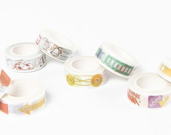 Planner Washi Tape Set - Label, Sticker, Tag, Memo, To do list