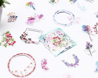 Wreaths and Flowers Sticker Set - Planner/Journal/Scrapbooking/Decoration
