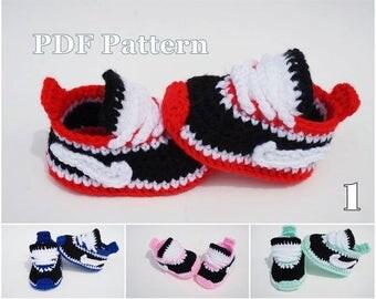 Crochet Shoe Pattern Nike Style Sneaker Pattern Bootie Pattern