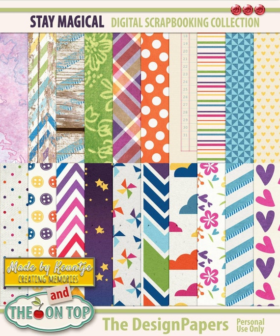 Stay Magical Design Papers collab with The Cherry On Top