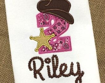 Cowgirl Birthday Shirt / Western Birthday Shirt / Cowboy Birthday Shirt / First Birthday Shirt / 1st Birthday / Birthday Outfit / Rope Font