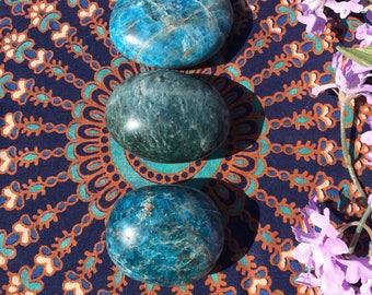 Beautiful Blue Apatite Large Apatite Palm Stone Reiki Healing Stones
