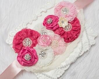 Maternity Sash-Pink Girl Maternity Sash-Pregnancy Sash-Maternity Belt-Baby Shower Sash