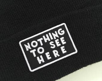 Nothing To See Here - 100 % Wool Beanie