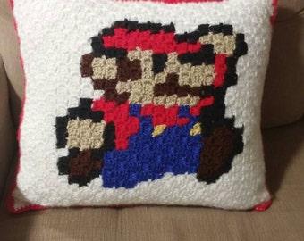 Super Mario crochet pillow