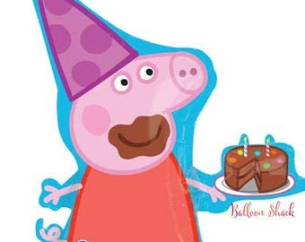 """Peppa Pig Balloon- Large 33"""" Foil Balloon- Peppa Pig Birthday Party Decorations"""