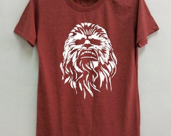 Star Wars Chewbacca T shirt is screen  for unisex size is S-M-L-XL ( This showing is size M) .