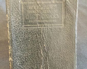 Webster' Handy Service Dictionary Self Pronouncing