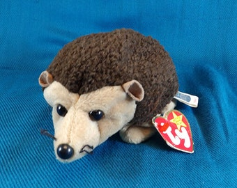 Beanie Baby Prickles the Hedgehog Stuffed Plush Toy