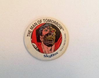 Vintage The Man of Tomorrow Pogs, Super Hero Pog, Skybox Pog, Milk Caps, Game, Classic Milk Caps, Vintage Toys, Old Toys, Pogs, Vintage Game