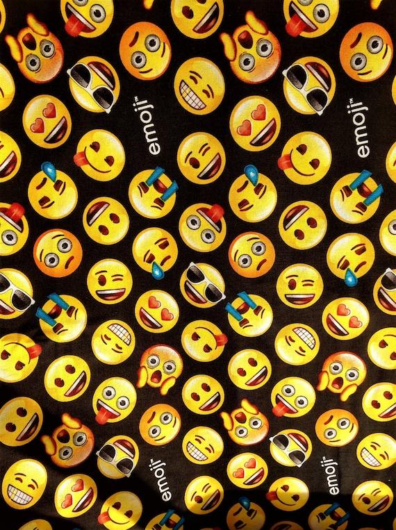 Emoji emotions classic liscensed novelty craft quilting kids for Novelty children s fabric