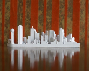 Dallas Texas City Skyline / Downtown Model 3D Printed