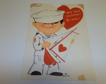 Large Vintage Valentine Sailor