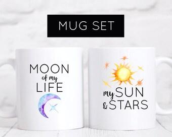 Game of Thrones Mug Set, Moon of My Life Mug, My Sun and Stars Mug, Game of Thrones, GOT, Wife, Husband, Khal Drogo, Khaleesi, BF, GF