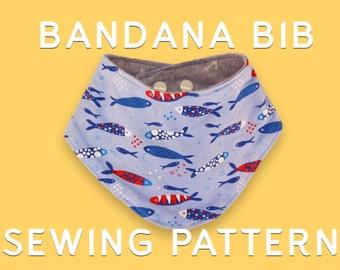 Baby Bandana  Bib - Sewing pattern + tutorial