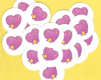 Cute stickers - heart decal - love heart emoji