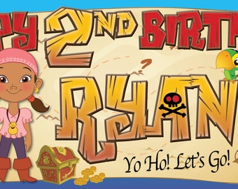 Jake and The Neverland Pirates (2) -Customized-Birthday Banner