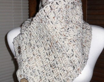 Hand Crocheted Cowl Scarf