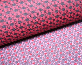 Made in Italy Jacquard fabric with pretty pattern in black and red, good wearability