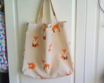handmade machine sewn ladies tote/shopping bag.