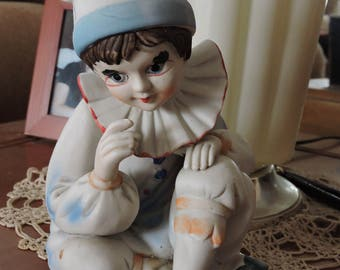 Clown Figurine. Musical Figurine, Send In The Clowns, Music Box