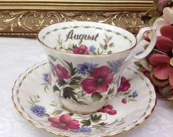 """Royal Albert Flower of the month series """"August""""."""