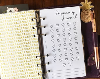 PERSONAL PREGNANCY JOURNAL Set | Printed Planner Inserts | Pregnancy tracker | Baby Journal (pe08)