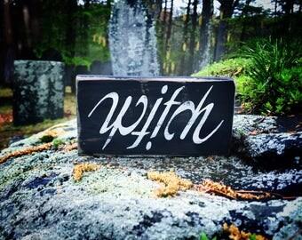 Witch/Witch sign/Witch decor/Salem witch/Wiccan/Wicca/Halloween/Halloween decor/Halloween sign