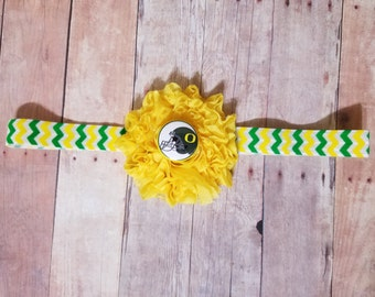 Oregon headband-Oregon for girl-oregon ducks headband-Ducks for girl-Oregon ducks baby gift/baby oregon ducks/girl oregon/girl ducks