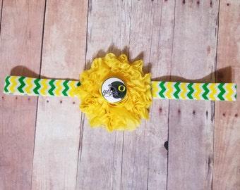 Oregon headband-Oregon for girl-oregon ducks headband-Ducks for girl-Oregon ducks baby gift/baby oregon ducks/girl oregon/girl ducks