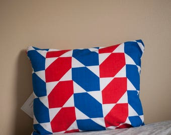 Geometric Shapes Reclaimed Fabric Pillow