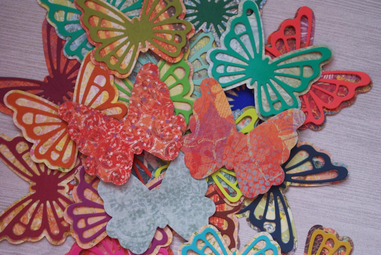 Butterfly gift tags 3d butterflies kawaii butterflies for Room decor embellishment art