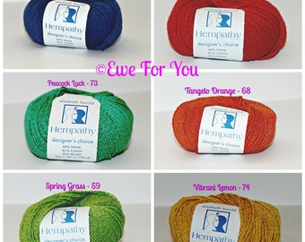 Hempathy Yarn By Elsebeth Lavold - Several Solid Colors Available, Perfect for making high end luxury fashion accessories, clothing and more